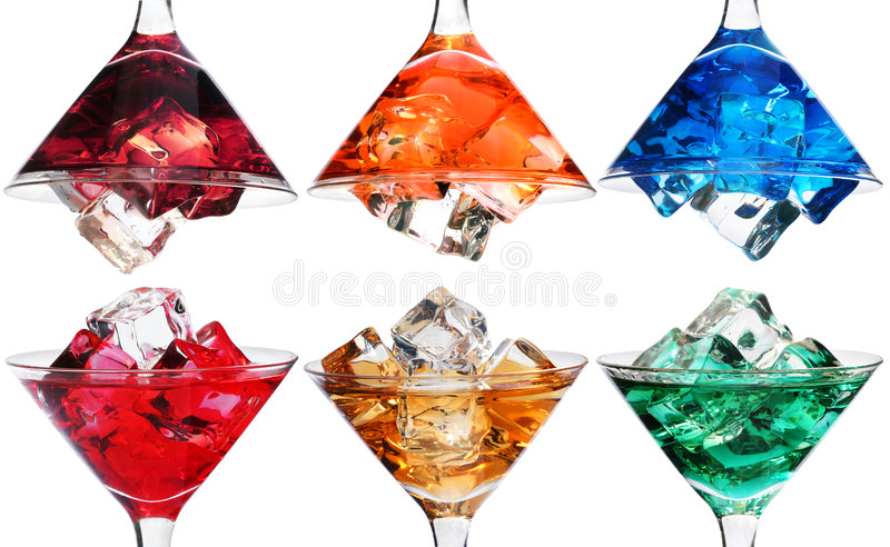 Wählen Sie ein Cocktail lizenzfreie stockbilder
