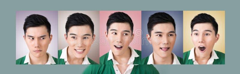 Wählen Sie einen Ausdruck des Gesichtes lizenzfreie stockbilder