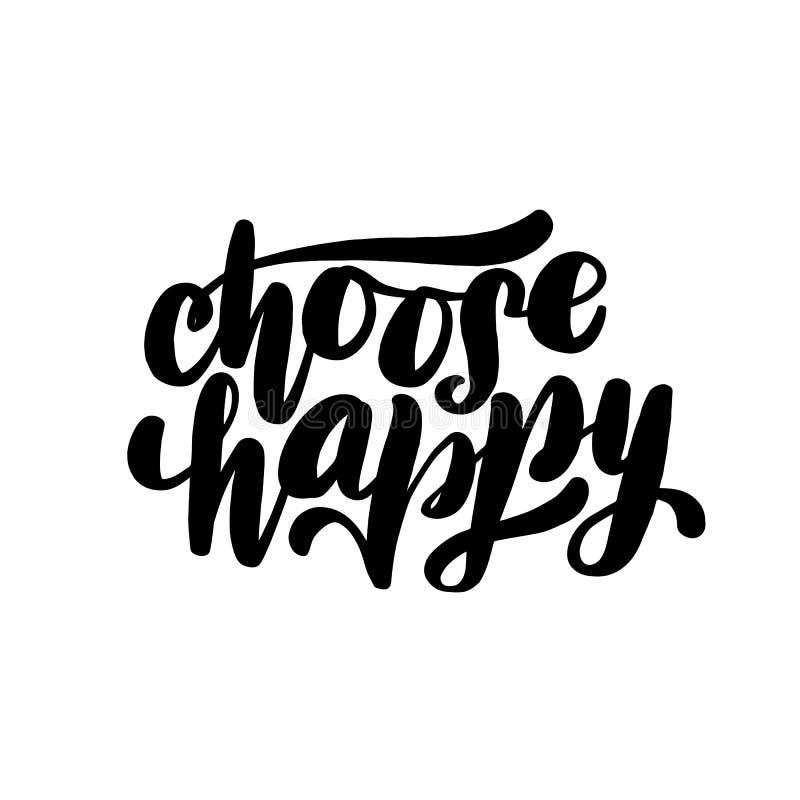 Wählen Sie glückliche Handbeschriftungskarte lizenzfreie abbildung