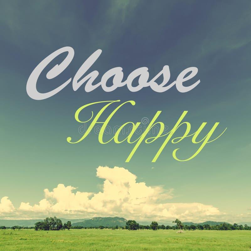 Wählen Sie glückliches stock abbildung