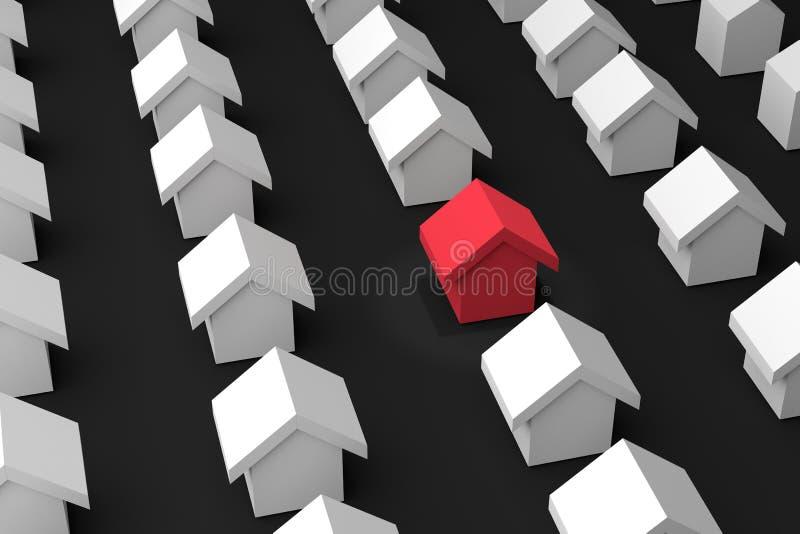 Download Wählen Sie Ihr Bestes Haus, Suchen Sie Ihr Haus, Illustration Der  Wiedergabe 3D