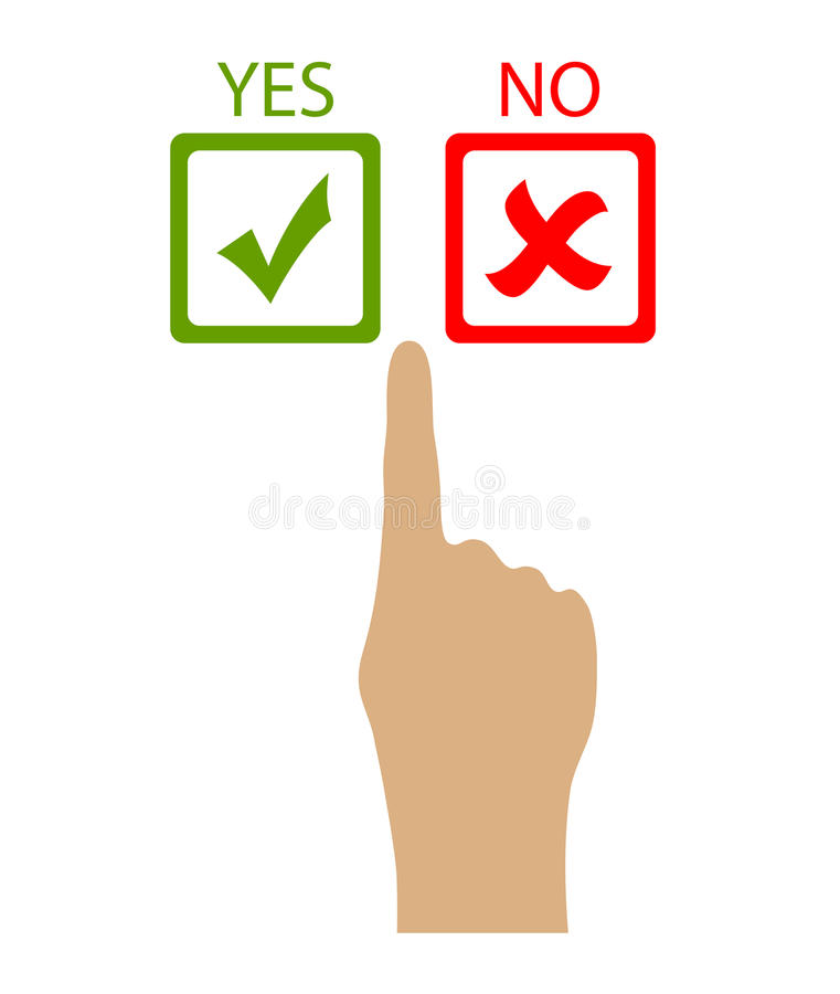 Wählen Sie ja oder nein vektor abbildung