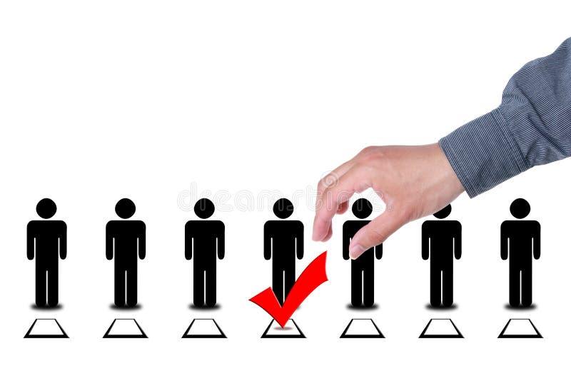 Wählen Sie Leute in den Auswahlwahl-Abstimmungskästen stockfotos