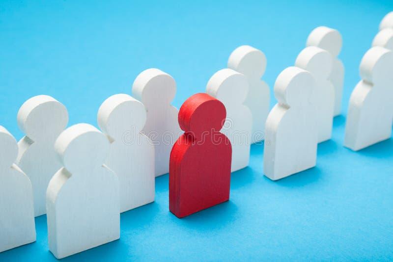 Wählen Sie vor und stellen Sie Rekrutierungsleute, Job-Bewerber-Konzept ein stockbilder