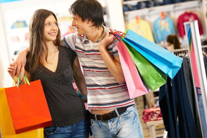 Während des Einkaufens stockbilder