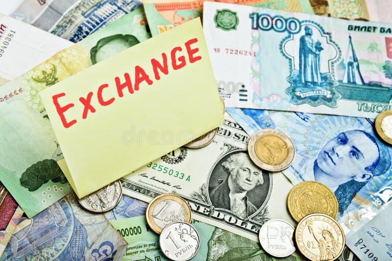 Währung excange stockbild