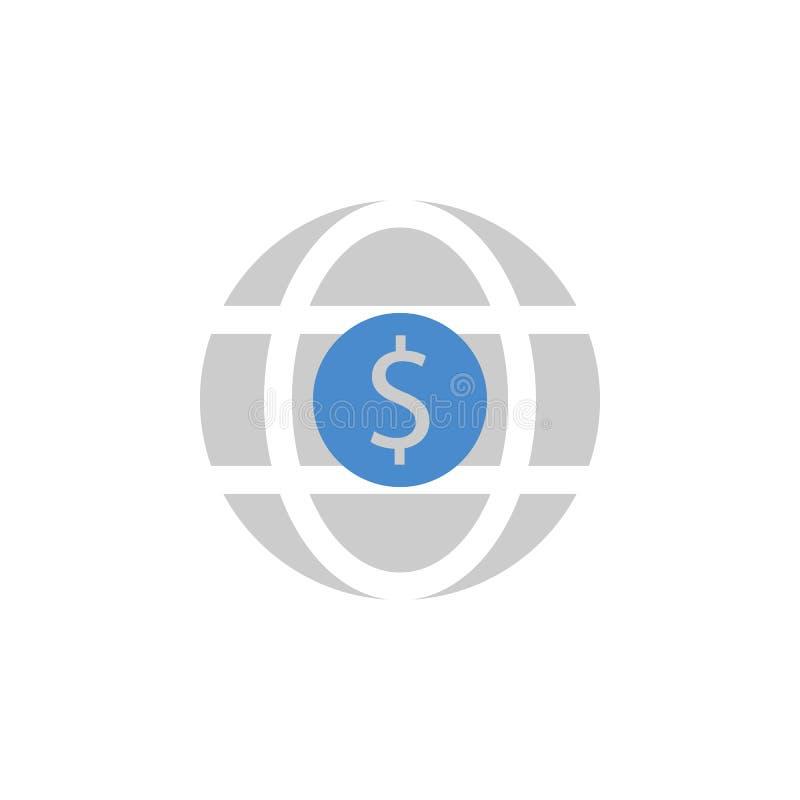 Währung, Geld, International, Investition, Welt zwei färben blaue und graue Ikone lizenzfreie abbildung