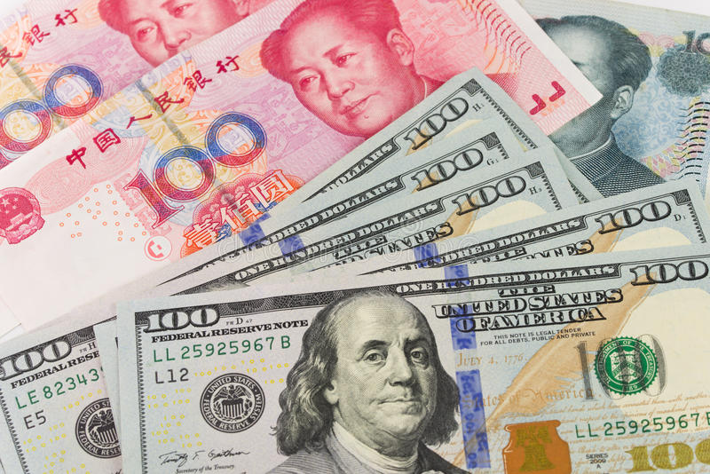 Währung US China lizenzfreies stockfoto
