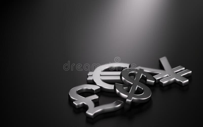 Währungen, Devisen-Handel stock abbildung