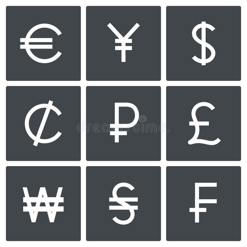 Währungsikonensatz lizenzfreie abbildung