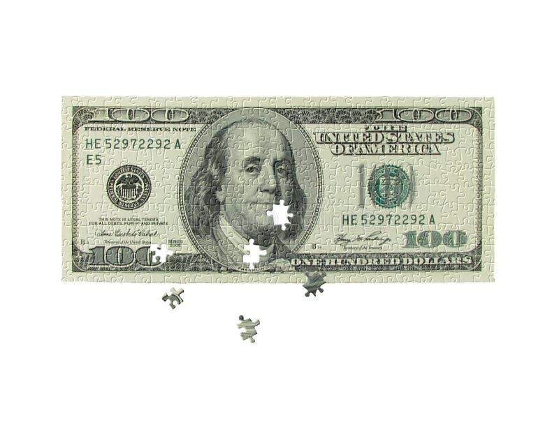 Währungspuzzlespiel stockfotografie