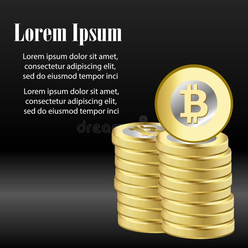 WÄHRUNGSstock-Diagrammdiagramm Bitcoin Schlüsseldes Börse-Investitionshandels, von steigender Tendenz Punkt, baissetendenziöser P vektor abbildung