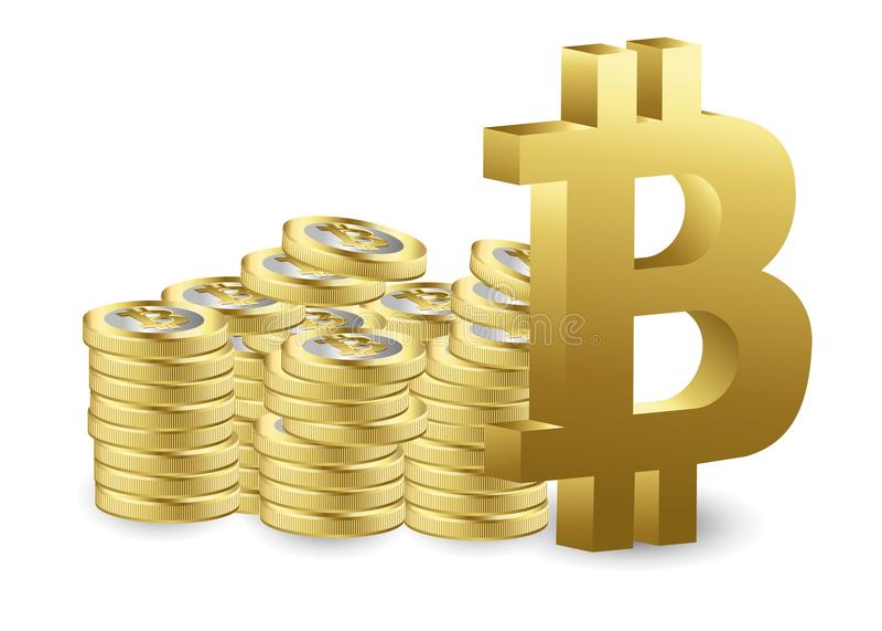 WÄHRUNGSstock-Diagrammdiagramm Bitcoin Schlüsseldes Börse-Investitionshandels, von steigender Tendenz Punkt, baissetendenziöser P stock abbildung