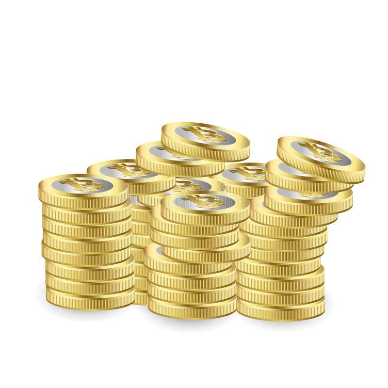 WÄHRUNGSstock-Diagrammdiagramm Bitcoin Schlüsseldes Börse-Investitionshandels, von steigender Tendenz Punkt, baissetendenziöser P lizenzfreie abbildung