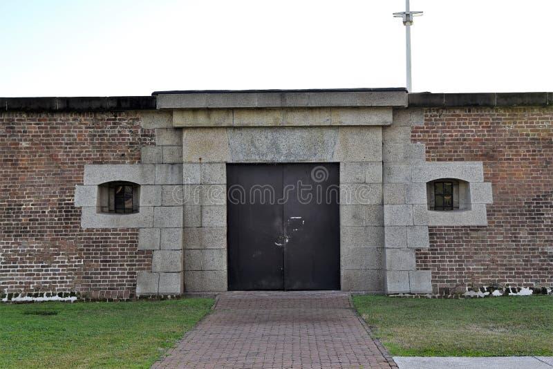Wände des Forts Moultrie stockbild