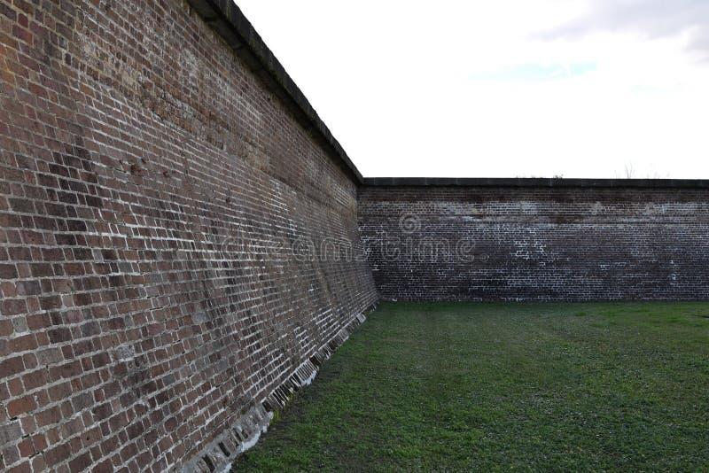 Wände des Forts Moultrie stockbilder