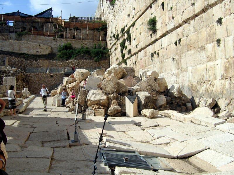 Wände des zweiten Tempels. lizenzfreies stockbild