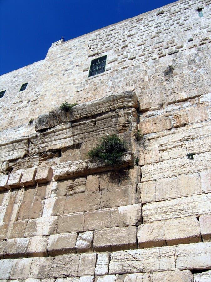 Wände des zweiten Tempels. Robinson Arch stockbild