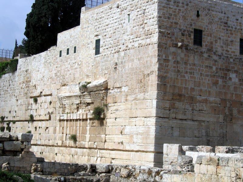 Wände des zweiten Tempels. Robinson Arch lizenzfreies stockbild