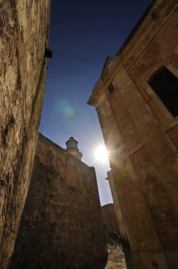 Wände Festung von der EL-Morro in Havana lizenzfreie stockfotografie