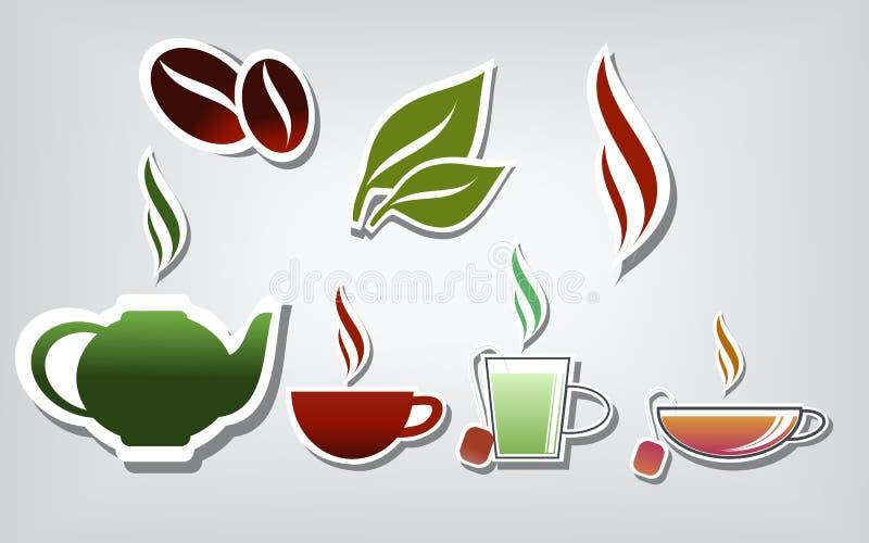 Wärmen Sie Getränke lizenzfreie abbildung