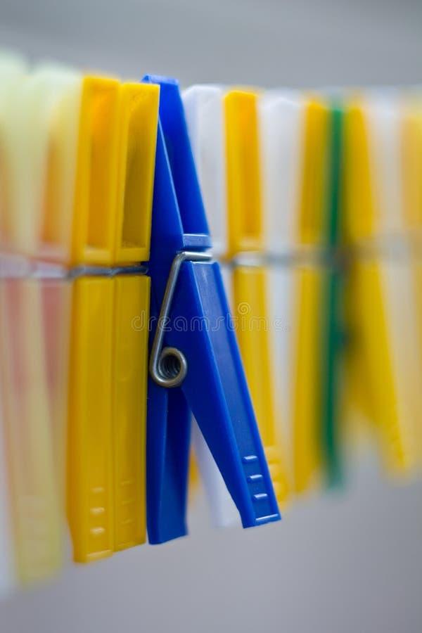 Wäscheklammern stockfoto