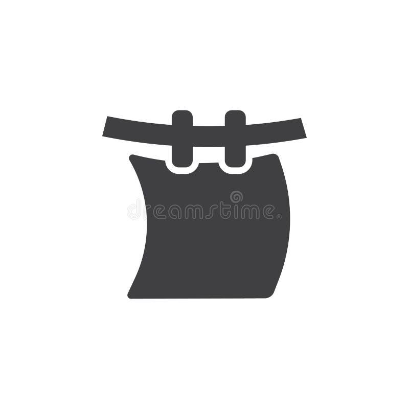 Wäscherei auf einer Seilikone vektor abbildung