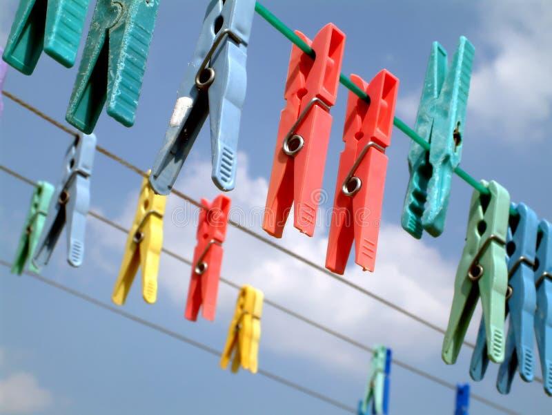 Wäscherei-Klipps lizenzfreies stockfoto