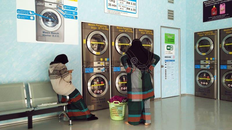 Wäscherei-Shop stockfotos