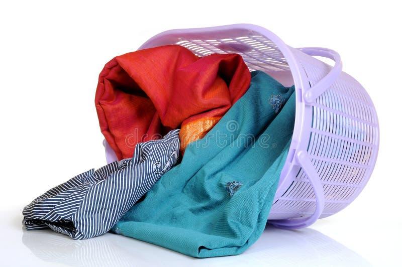 Wäschereikorb stockbild