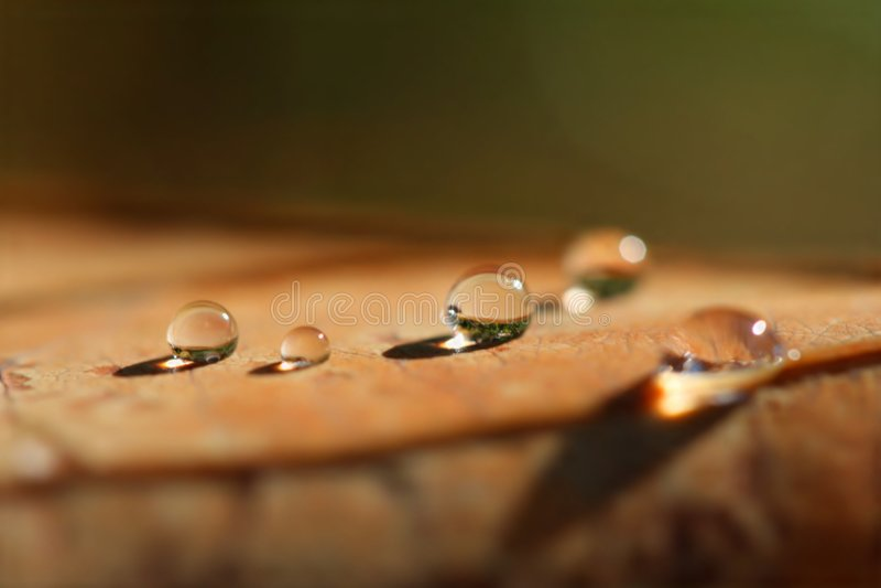 Wässern Sie Perlen stockbilder