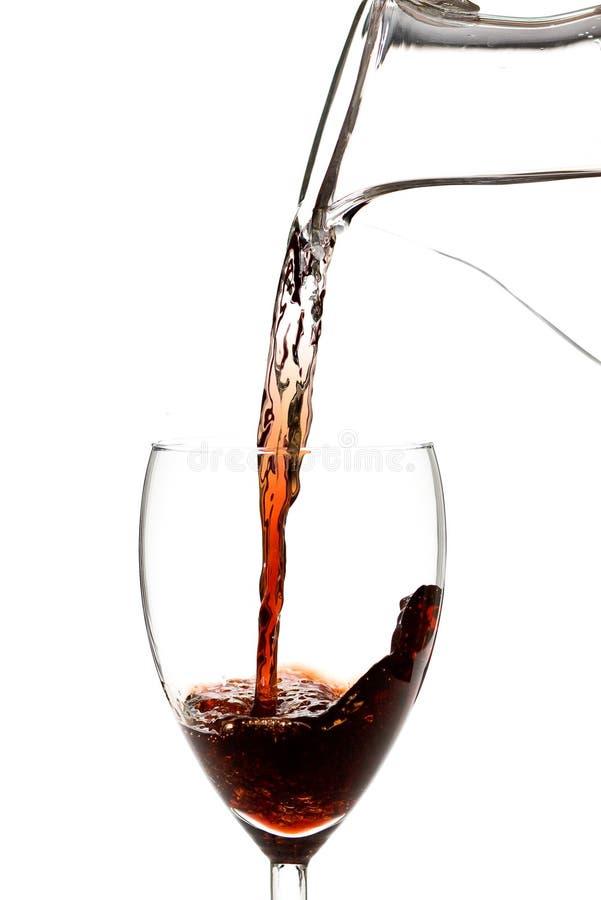 Wässern Sie in Wein stockfotos