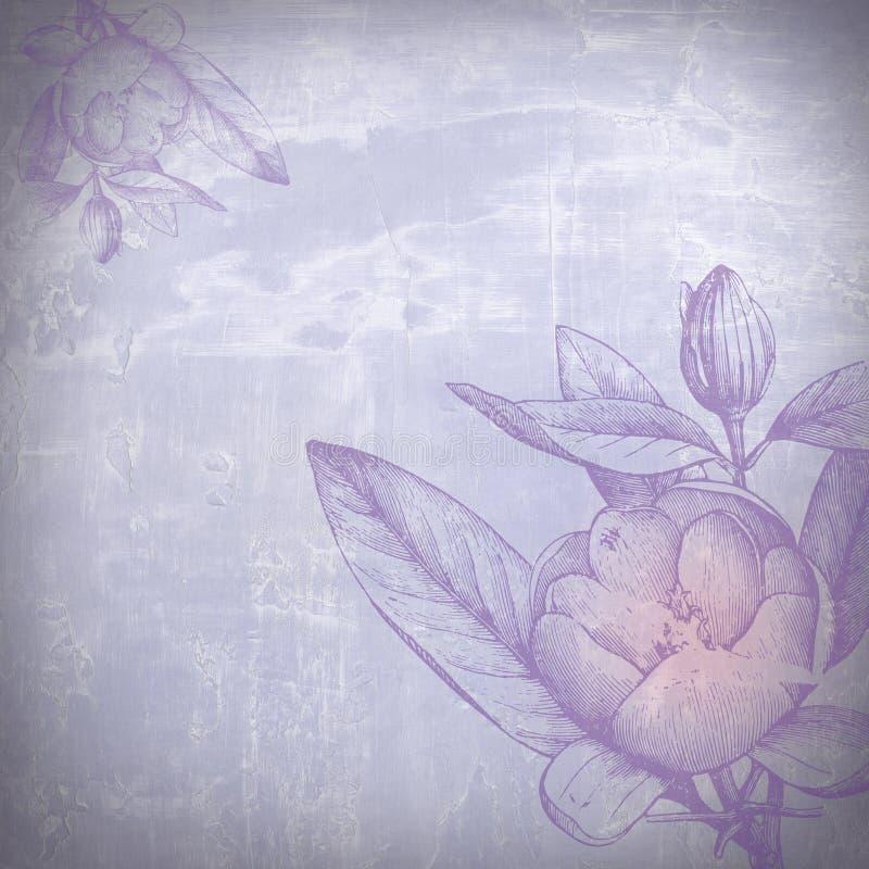 Wässrige Blumen stock abbildung