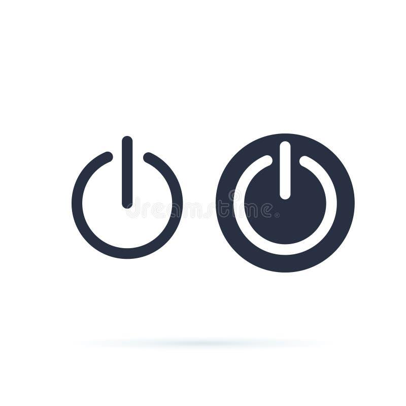 Władzy ikona Władzy zmiany ikona Zamykający, zmiana na symbolu lub z Kreskowe i stałe ikony sieci round guzik z przerwami ilustracji