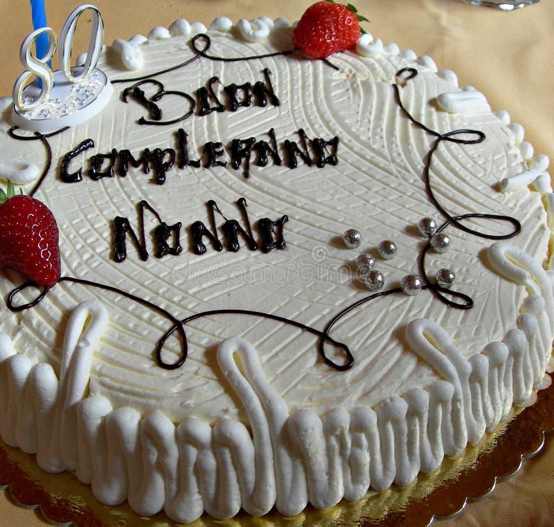 Włochy: Dziadunia urodzinowy tort obrazy stock