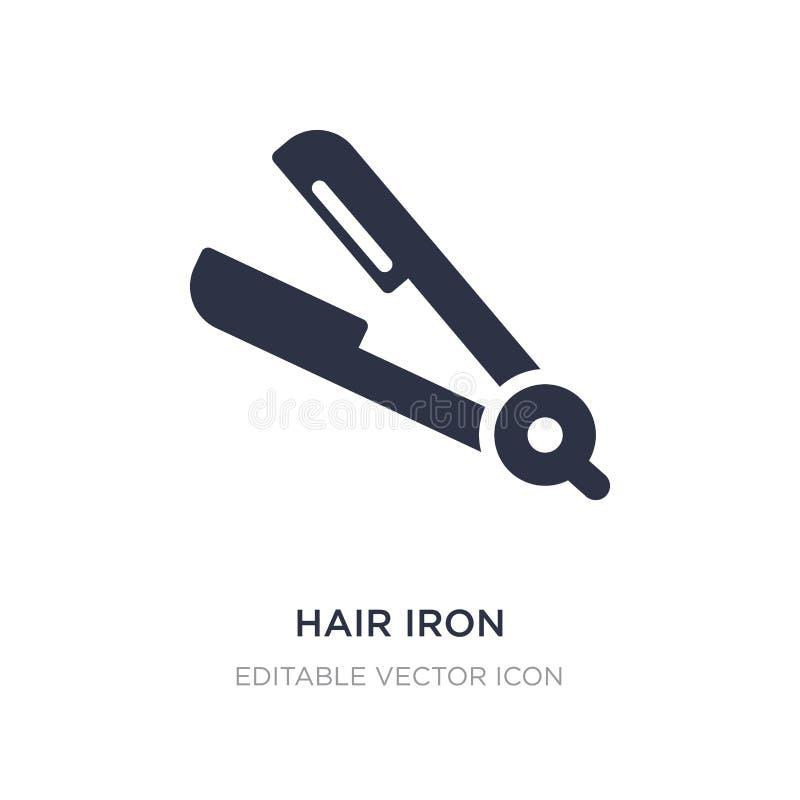 włosy żelazna ikona na białym tle Prosta element ilustracja od narzędzi i naczyń pojęcia ilustracji