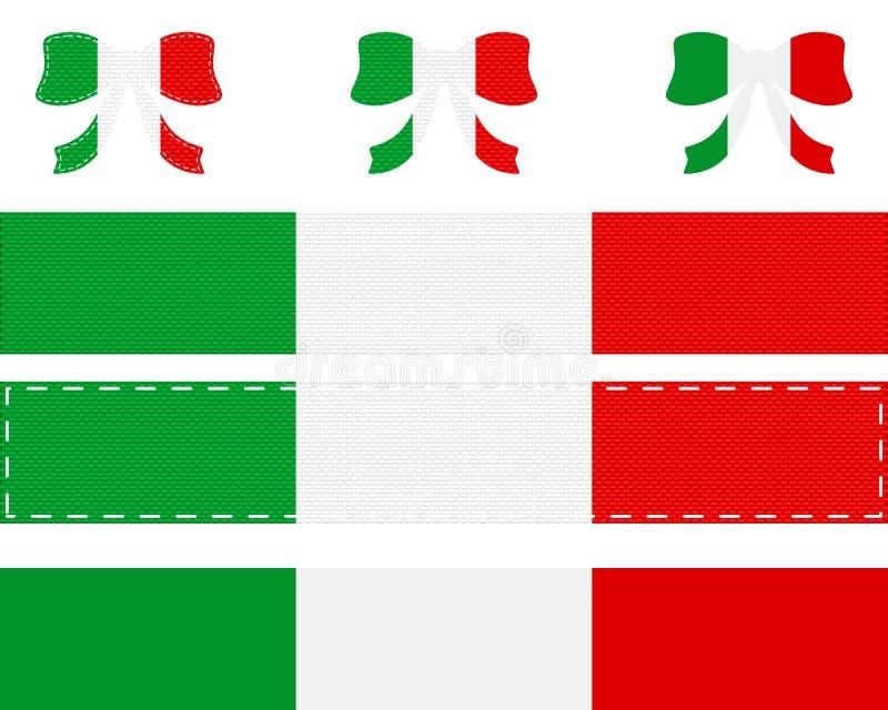 Włoszczyzny flaga na faborku i łęku ilustracji