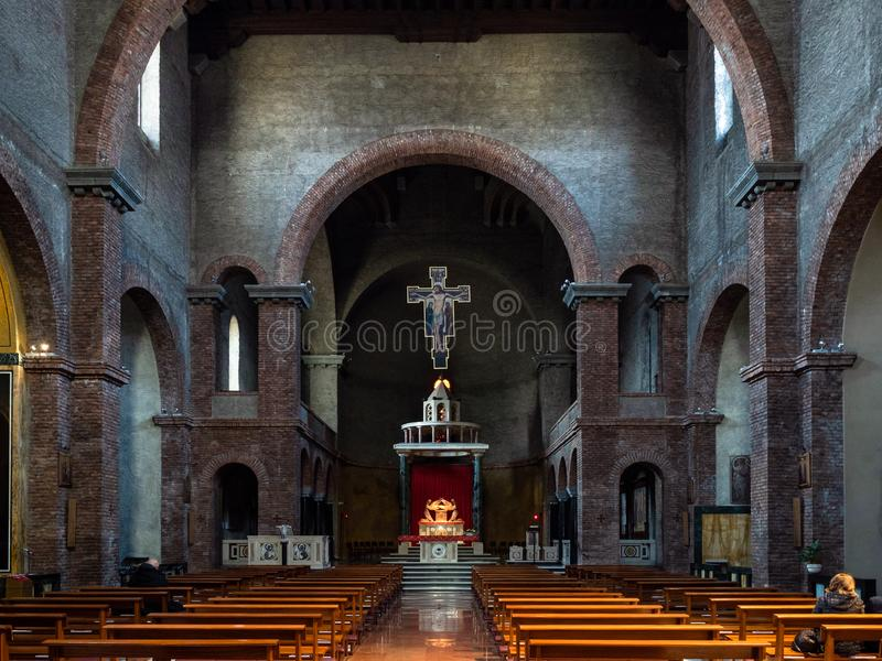 Wśrodku kościelnego Santuario Di Nostra Signora fotografia royalty free