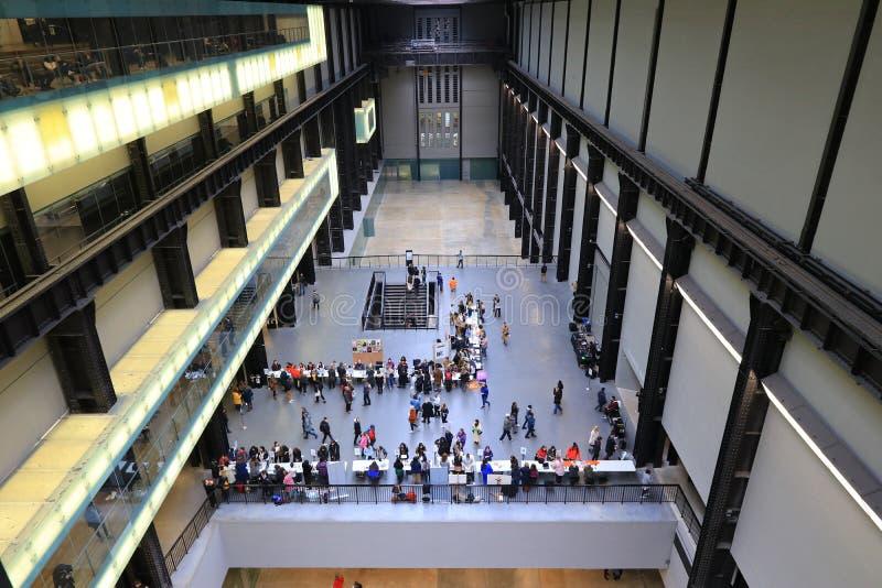 Wśrodku tate modern galerii, Londyn zdjęcie stock