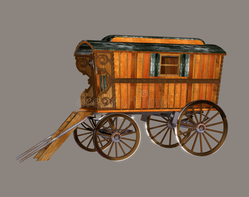 wóz cyganów royalty ilustracja