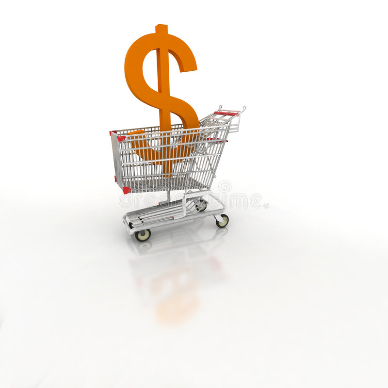 wózek handlu e zakupy zdjęcie stock