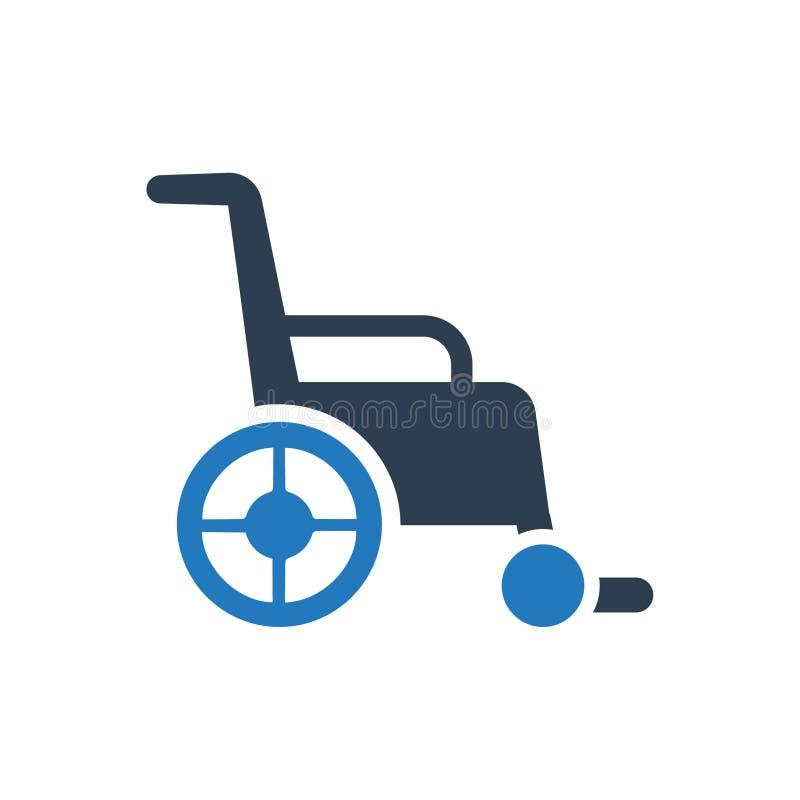 Wózek inwalidzki ikona royalty ilustracja