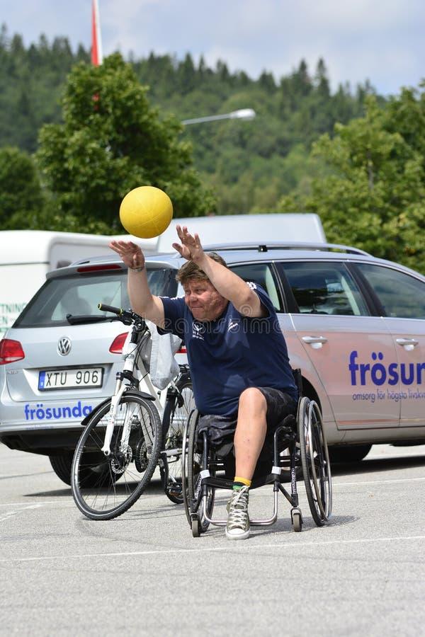 Wózek inwalidzki koszykówka zdjęcie stock