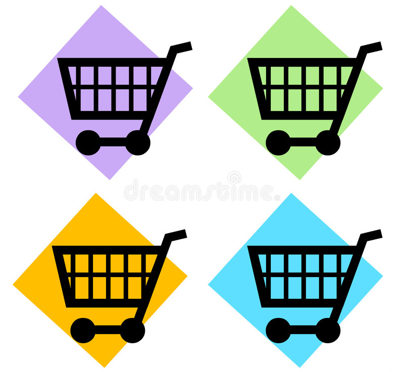 wózek na zakupy royalty ilustracja