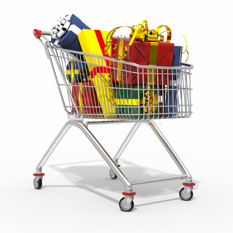 wózek na zakupy ilustracja wektor