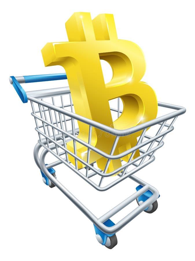 Wózek Na Zakupy Bitcoin pojęcie ilustracji