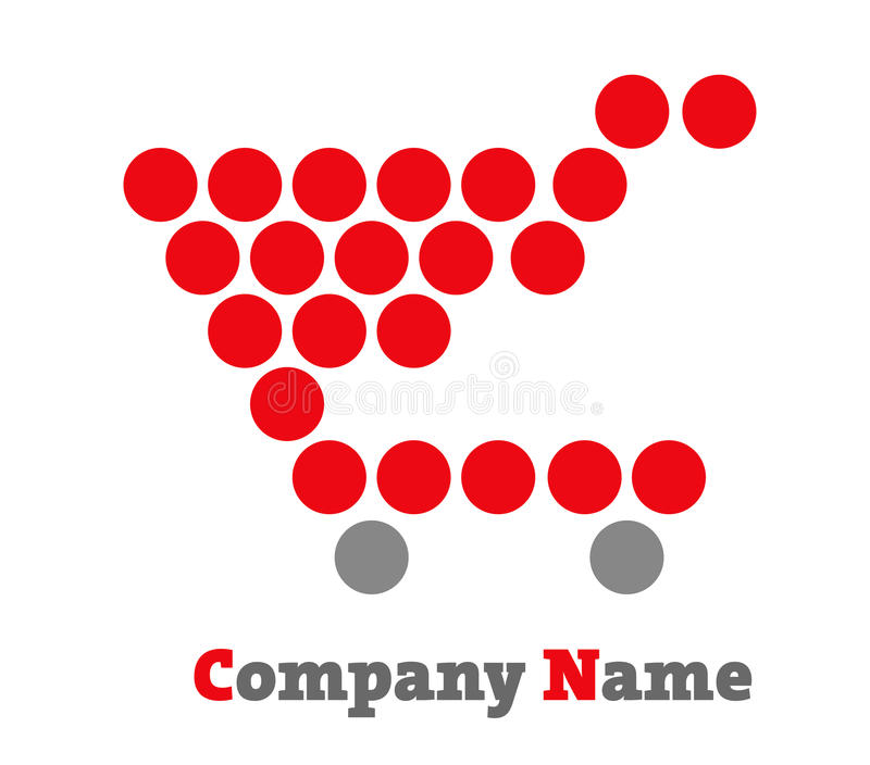 Wózek Na Zakupy ikona, logo/ ilustracji