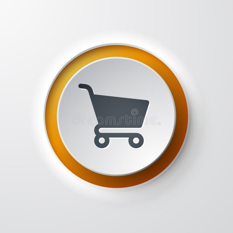 Wózek Na Zakupy sieci ikona royalty ilustracja