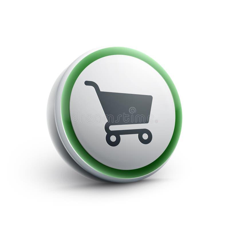 Wózek Na Zakupy sieci ikona ilustracja wektor