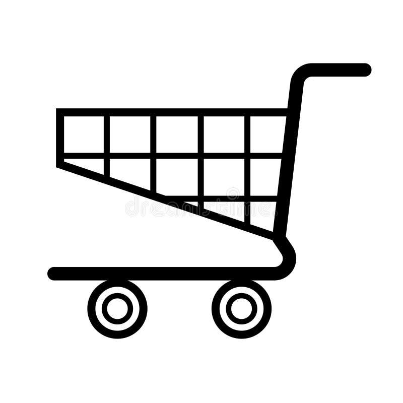 Wózek na zakupy wektor royalty ilustracja